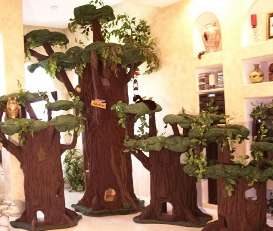 Деревья для кошек своими руками 29